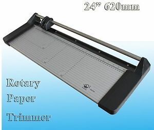 Portable 24 Inches 620mm Professional Paper Pvc Cutter Manual Rotary Trimmer
