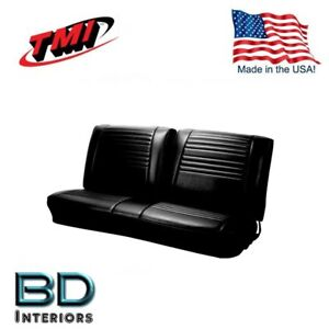 1967 Chevy Chevelle Camino Front Bench Seat Upholstery Black Made In Usa By Tmi