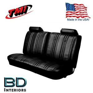 Seat Upholstery 1969 Chevy Chevelle Front Rear Bench Black Made In Usa By Tmi
