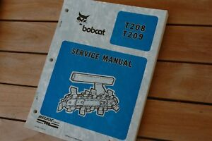 Bobcat T208 T209 Walk Behind Trencher Service Manual Repair Shop Maintenance Oem