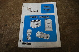 Bobcat Midmark 200 250 B10a Trencher Parts Manual Book Catalog Boring Attachment