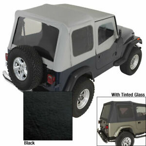 Soft Top With Door Skins Blk Tinted Windows For Jeep Wrangler Yj 88 95 13702 15