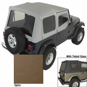 Soft Top Door Skins Spice Tinted Windows For Jeep Wrangler Yj 88 95 13702 37