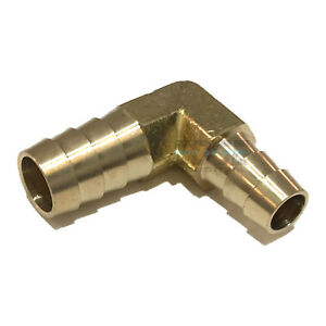 3 8 X 1 2 Hose Barb Elbow 90 Degree Brass Pipe Fitting Union Gas Fuel Water Air