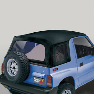 Black Denim Soft Top Windows For Suzuki Sidekick 95 98 53703 15 Rugged Ridge