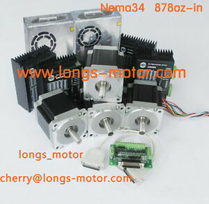 4axis Nema34 Stepper Motor With 878oz in Driver Dm860a Cnc Router Longs_motor