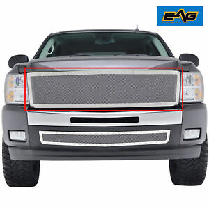 07 13 Chevy Silverado Grille Rivet Front Hood Stud Chrome Ss Wire Mesh Replace