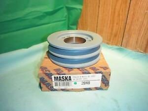 Maska 2b48 Double Belt Sheave Pulley For Use With Qd sds Bushing