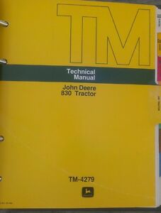 John Deere 830 Tractor Technical Manual With Binder