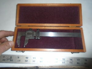 Machinist Tool Lathe Mill Machinist Starrett Vernier Caliper Gage Gauge In Case