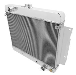 1969 1970 Chevy Impala Radiator 3 Row Aluminum Champion Wr Radiator