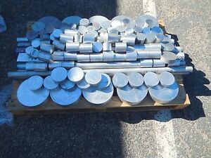 Aluminum Round Rod Bar Large Lot approx 450 Lbs