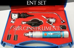 Otoscope Ophthalmoscope Blue 11 Piece Ent Medical Diagnostic Set