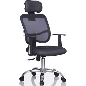 Ergonomic Mesh Task Computer Desk Office Chair High Back Adjustable W Headrest