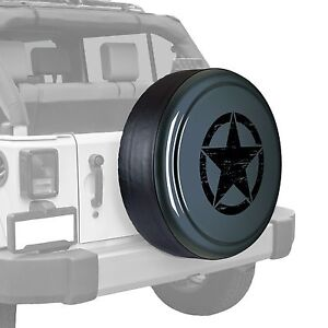 Oscar Mike Star Painted Tire Cover Fits Jeep Wrangler Anvil