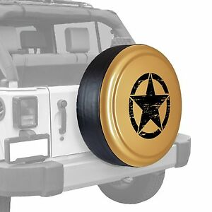Oscar Mike Star Painted Tire Cover Fits Jeep Wrangler Dune