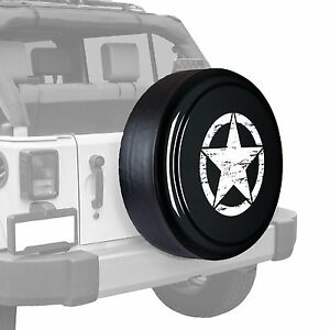 Oscar Mike Star Painted Tire Cover Fits Jeep Wrangler Rhino