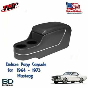 Deluxe Pony Console Black For 1964 To 1973 Ford Mustang Made In Usa By Tmi