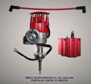Mopar Small Block 273 318 340 360 Red Small Cap Hei Distributor