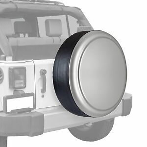 Boomerang painted Rigid Tire Cover Fits Jeep Wrangler Light Greystone