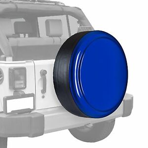 Boomerang Painted Rigid Tire Cover Fits Jeep Wrangler Deep Water Blue