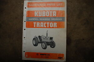 Kubota M4950 M5950 Tractor Parts Manual Book Catalog List Spare Far