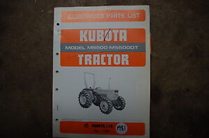 Kubota M5500 M5500dt Tractor Parts Manual Book Catalog List Spare Farm 1981 Oem