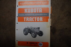 Kubota M7500 Dt A Cl Tractor Parts Manual Book Catalog List Spare Farm 1983 Oem