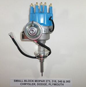 Mopar Small Block 273 318 340 360 Blue Small Cap Hei Distributor Ready to run