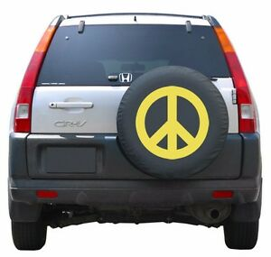 27 Peace Sign Tire Cover Yellow Honda Crv Usa