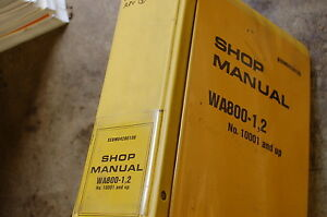 Komatsu Wa800 Front End Wheel Loader Service Repair Manual Book Shop Overhaul 2