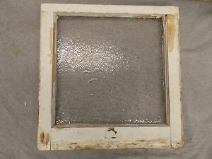 Antique Window Sash Iced Privacy Glass Pebbled Old Vtg House Bathroom 5235 15