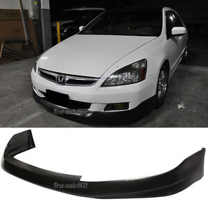 Fit For 06 07 Honda Accord Coupe Hfp Style Pu Front Bumper Lip Poly Urethane