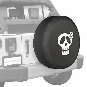 32 Girly Skull Tire Cover White Print Fits Jeep Wrangler Usa