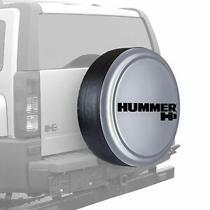 32 Hummer H3 Logo Rigid Tire Cover Painted Ultra Silver