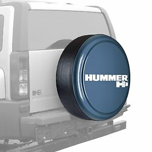 32 Hummer H3 Logo Rigid Tire Cover Painted Slate Blue