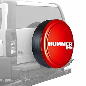33 Hummer H3 Logo Rigid Tire Cover Painted Victory Red