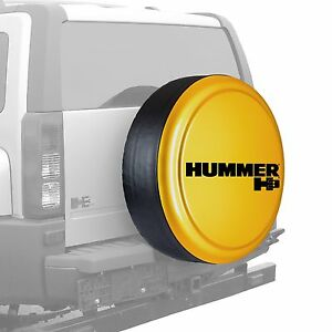 32 Hummer H3 Logo Rigid Tire Cover Painted Yellow