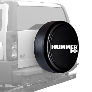 32 Hummer H3 Logo Rigid Tire Cover Painted Black