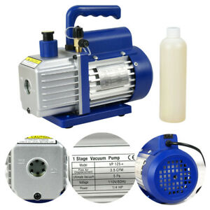 3 5cfm 1 4hp Air Refrigerant Rotary Vane Single Stage Vacuum Pump Ac110v Vp125