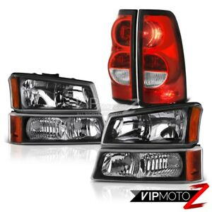 2003 2006 Chevy Silverado 1500 2500hd 3500hd 6pc Front rear Headlights Tail Lamp