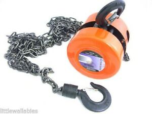 1 Ton Chain Hoist 2000lbs Capacity Winch Engine Lift Hoists Rigging System Bin