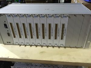 National Instruments Scxi 1001 12 Slot Chassis With 8 X Scxi 1100 1 X 1162hv