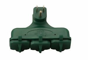 Coleman Cable 13270 12 Pack 3 outlet Indoor And Outdoor Adapter Green