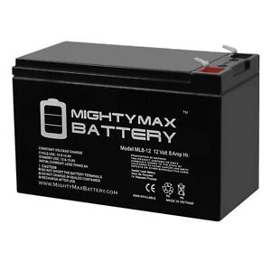 Mighty Max 12V 8AH Replacement Battery for Lowrance Fishfinder 12V CHARGER