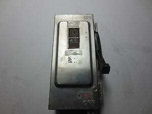 Square D 30 Amp Safety Switch Stainless Steele Heavy Duty