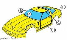 1985 Corvette Weatherstrip Coupe Kit 7 Pc Includes Adhesive