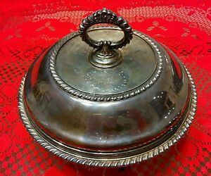 Antique Sheffield Brooklyn 3 Pc Silver Plate Covered Serving Dish Early 20th C