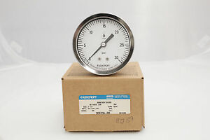 Ashcroft 3 5 1032s 1 4 npt Back Connection 30 Psi Pressure Gauge