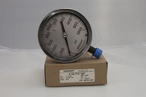 Ashcroft 4 5 1009s 1 2 npt Lower Connection 2000 Psi Pressure Gauge
